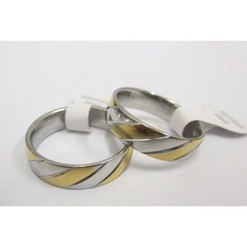 Steel ring bicolour