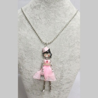 doll necklace pink