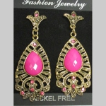 fancy pink earring