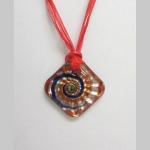 Blown glass necklace