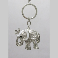 door silver elephant key