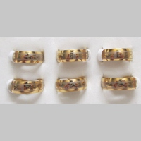 "Lot 6 rings ""Jesus"""