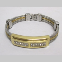 steel cable bracelet for man