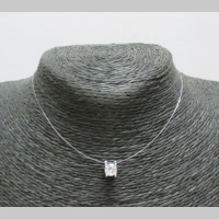 rhinestone necklace fishing line