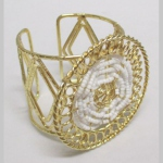 medallion cuff bangle