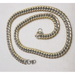two-tone bracelet steel mesh chain