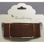 Bracelet leather buckle
