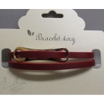 Bracelet leather strap buckle