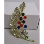 Multicolor flower brooch jewelry