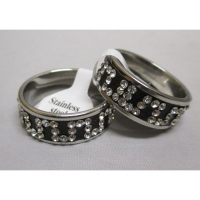 Steel ring rhinestone