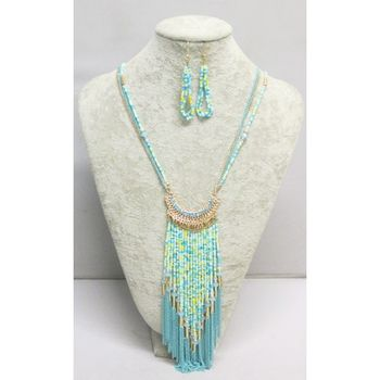 long collier perles de rocaille