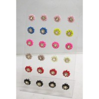 Lot of 12 Woman's Earrings flower