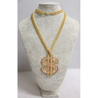 collier dollar bling bling