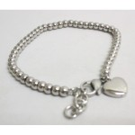 Jewelry bracelet woman heart steel