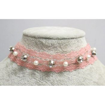 collier choker rose