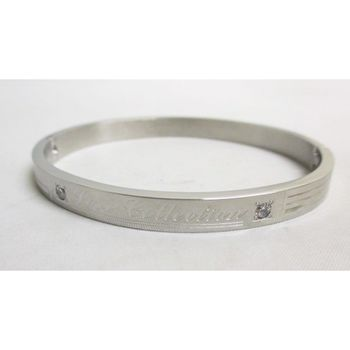 Steel jewelry with inscription