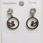 Jewelry steel swan ear