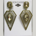 Geometric clip earrings