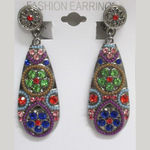Multicolored Clip-on Earrings