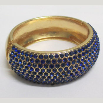 bracelet bollywood strass bleu