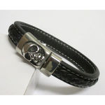 Leather Strap Magnetic Heart Skull