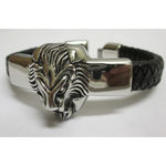 Leather Strap Steel Tiger Head