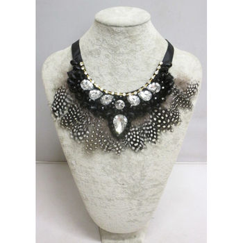 necklace feathers accessories