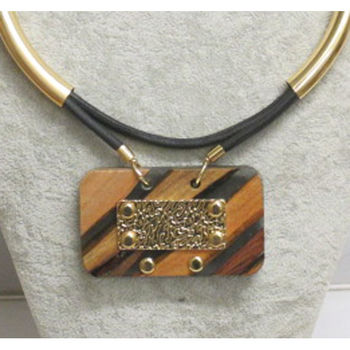 jewelry necklace ethnic resin wood