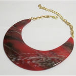 necklace round rainbow in resin