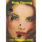 Piercing 3 pieces arcade nez labret