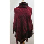poncho femme hiver
