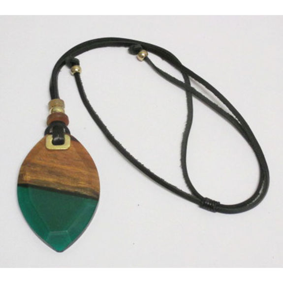 wood and resin jewelery