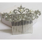 comb hair accessory pearl rhinestone wedding