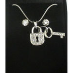 jewelry pendant key padlock