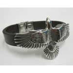 man leather bracelet eagle