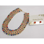 Imposing multicolored necklace
