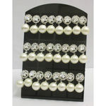Lot of 12  fancy Woman's Earrings pearl