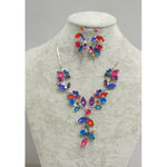 flower jewelry multicolour set