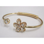crystal bracelet end rigid flower