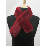 Fake fur cross scarf