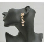 crystal drop ear jewelery