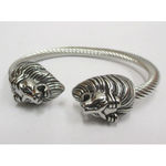 steel biker rush clasp lion head