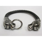 leather tiger head bracelet
