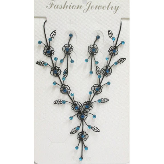 Jewelry set black blue