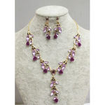 Purple crystal adornment