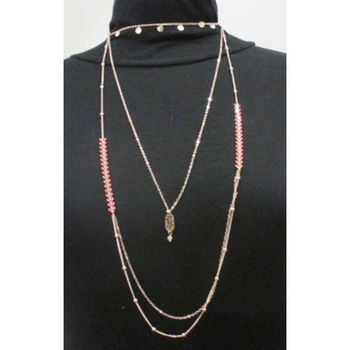 fancy necklace multi rows