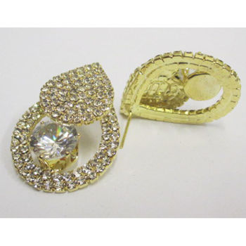 pierced rhinestone earrings