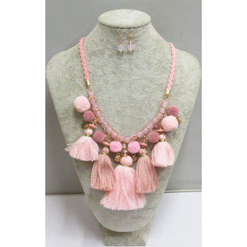pink curtain tassel jewelry