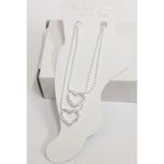 Fancy rhinestone anklet chain
