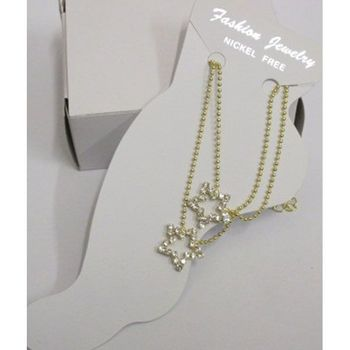 anklet chain charm star